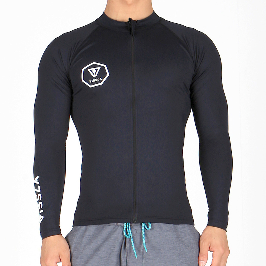SHORE BREAK ZIP UP - BLK