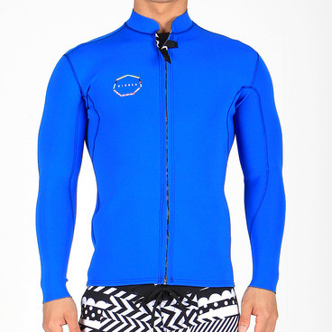 WOODSIDE FRONT ZIP JACKET - BLU