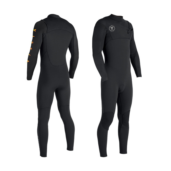 SEVEN SEAS TRIPPER 4-3 FRONT ZIP BLACK