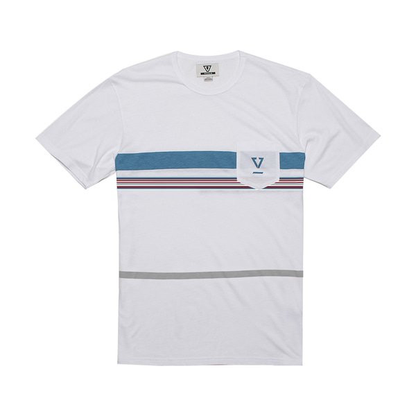 DREDGES II SS PKT TEE VINTAGE WHITE HEATHER