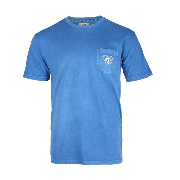 INTERSTATE SS PKT TEE ROYAL WASH HEATHER