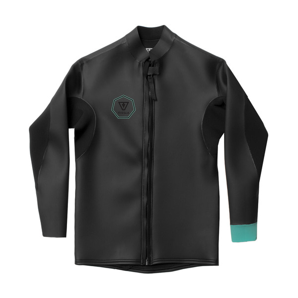 NORTH SEAS SMOOTHY FRONT ZIP JACKET BLACK WITH JADE